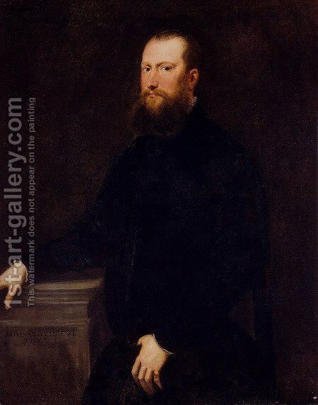 Portrait Of A Bearded Venetian Nobleman by Jacopo Tintoretto (Robusti) - Reproduction Oil Painting