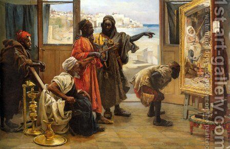 The Connoisseurs by Gyula Tornai - Reproduction Oil Painting