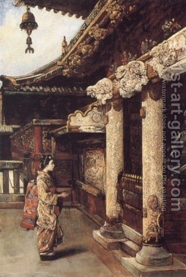 At the Shrine by Gyula Tornai - Reproduction Oil Painting