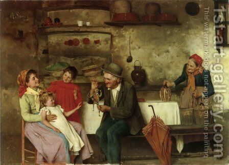 The Puppet Show by Alessandro Sani - Reproduction Oil Painting