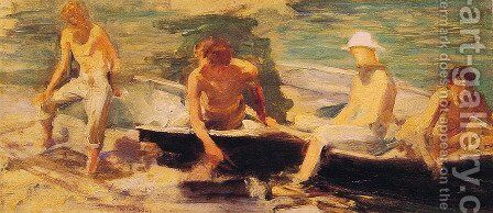 The Rowing Party by Henry Scott Tuke - Reproduction Oil Painting