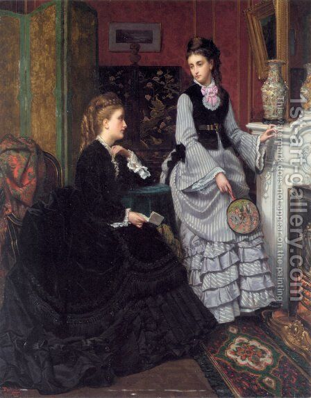 A Moment by the Fire by Jan Frederik Pieter Portielje - Reproduction Oil Painting