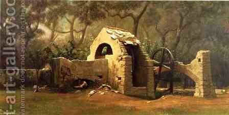 The Old Well, Bordighera by Elihu Vedder - Reproduction Oil Painting