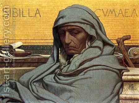 Sibilia Cumaea by Elihu Vedder - Reproduction Oil Painting