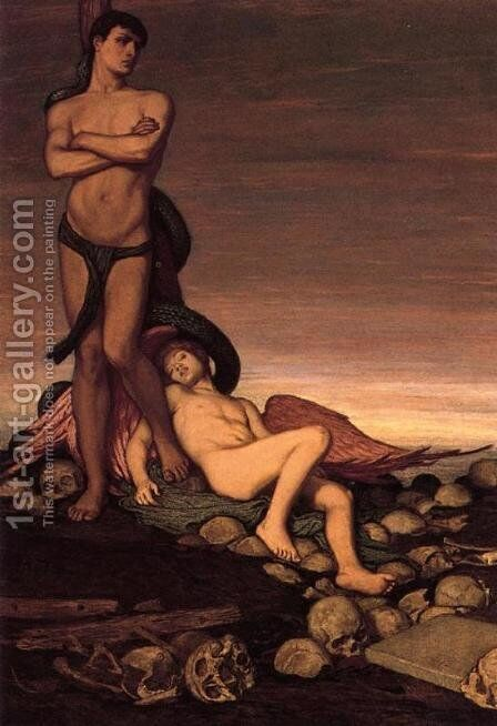 The Last Man by Elihu Vedder - Reproduction Oil Painting