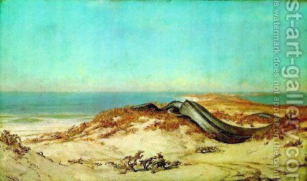 Lair of the Sea Serpent by Elihu Vedder - Reproduction Oil Painting