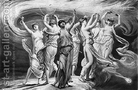 The Pleiades by Elihu Vedder - Reproduction Oil Painting
