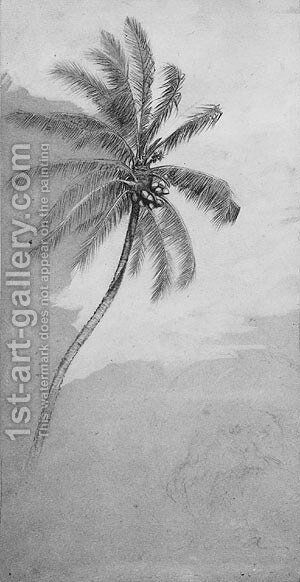 Palm Tree by Elihu Vedder - Reproduction Oil Painting