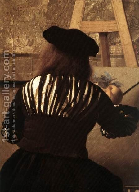 The Art of Painting [detail: 4] by Jan Vermeer Van Delft - Reproduction Oil Painting