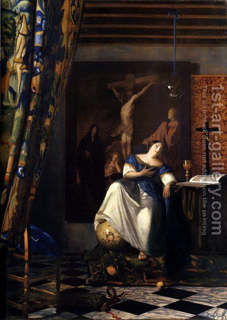 Allegory of the Faith by Jan Vermeer Van Delft - Reproduction Oil Painting