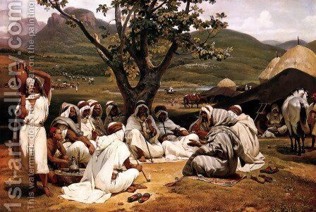 The Arab Tale-teller by Horace Vernet - Reproduction Oil Painting