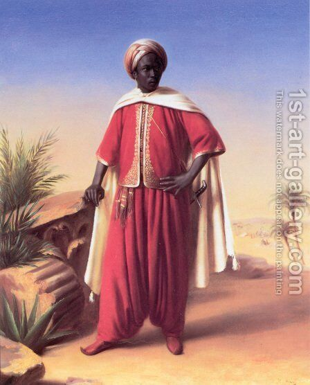 Portrait of an Arab by Horace Vernet - Reproduction Oil Painting