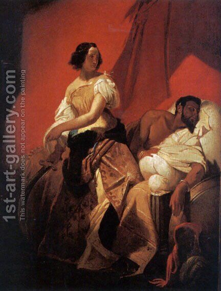 Judith and Holofernes by Horace Vernet - Reproduction Oil Painting