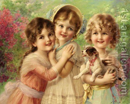 Best of Friends by Emile Vernon - Reproduction Oil Painting