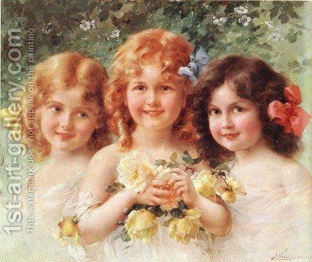 Three Sisters by Emile Vernon - Reproduction Oil Painting