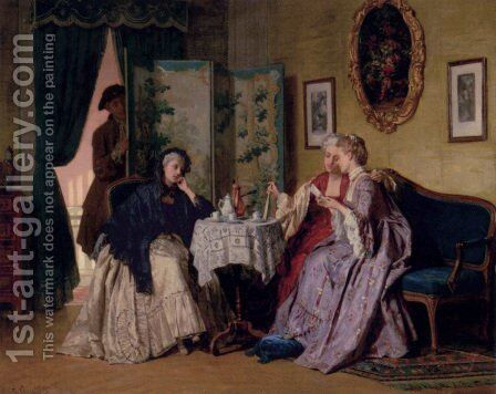 The Eavesdropper by Jean Carolus - Reproduction Oil Painting