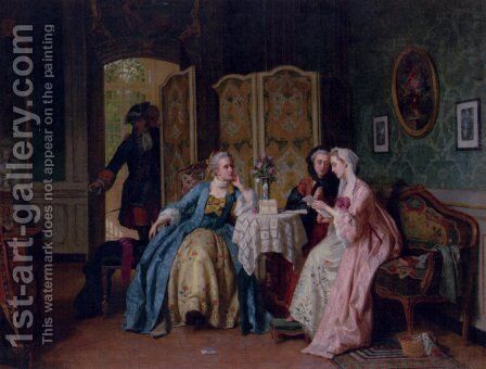 The Letter by Jean Carolus - Reproduction Oil Painting