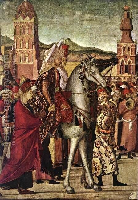 The Triumph of St George [detail: 2] by Vittore Carpaccio - Reproduction Oil Painting