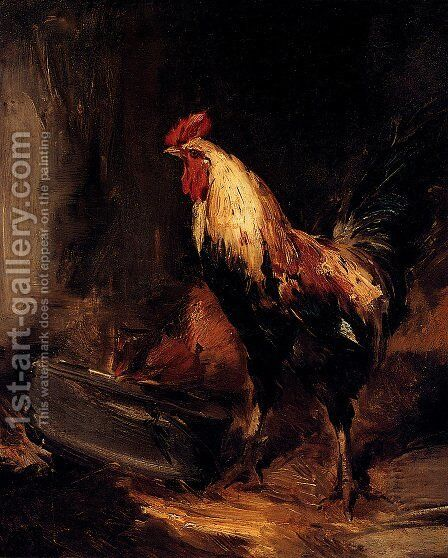In The Roost by Antoine Vollon - Reproduction Oil Painting