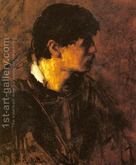 Portrait of a Man by Antoine Vollon - Reproduction Oil Painting