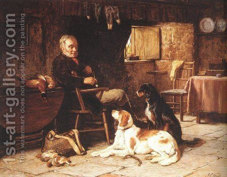 A Rest Well Earned by James Clarke Waite - Reproduction Oil Painting