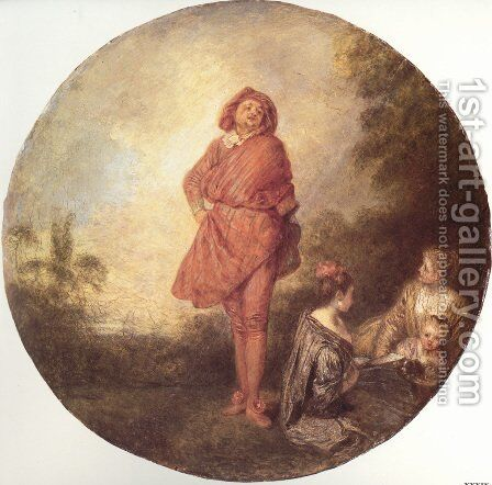 L'Orgueilleux (The Proud One) by Jean-Antoine Watteau - Reproduction Oil Painting