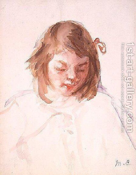 Head of Francoise Looking Down (no.4) by Mary Cassatt - Reproduction Oil Painting