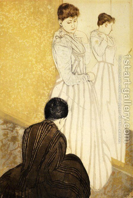 The Fitting by Mary Cassatt - Reproduction Oil Painting