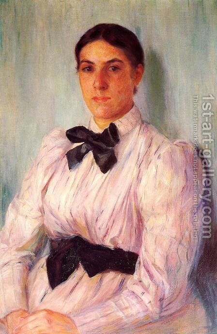 Portrait of Mrs. William Harrison by Mary Cassatt - Reproduction Oil Painting