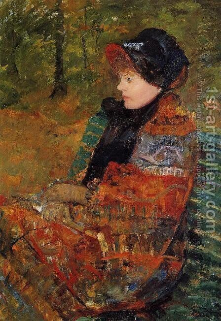 Autumn (or Profile of Lydia Cassatt) by Mary Cassatt - Reproduction Oil Painting
