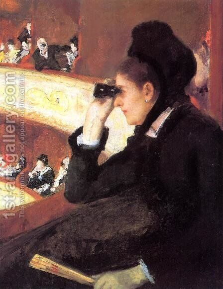 At the Francais, a Sketch (or At the Opera) by Mary Cassatt - Reproduction Oil Painting