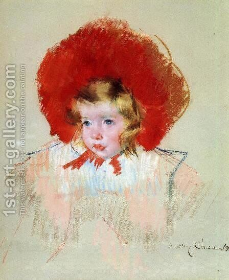Child with a Red Hat by Mary Cassatt - Reproduction Oil Painting