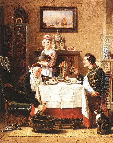 A Satisfying Meal by Charles Meer Webb - Reproduction Oil Painting