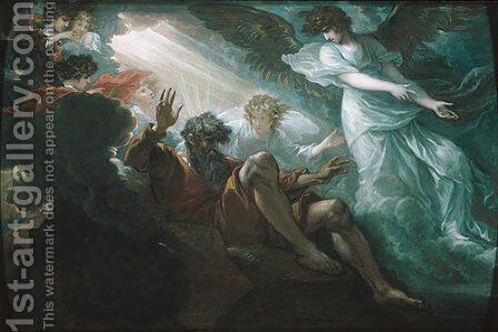 Moses Shown the Promised Land by Benjamin West - Reproduction Oil Painting