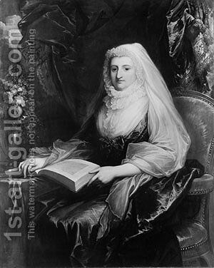 Mrs. Peter Beckford by Benjamin West - Reproduction Oil Painting