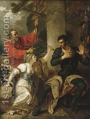 The Damsel and Orlando by Benjamin West - Reproduction Oil Painting