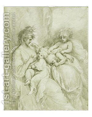 Maternity by Benjamin West - Reproduction Oil Painting