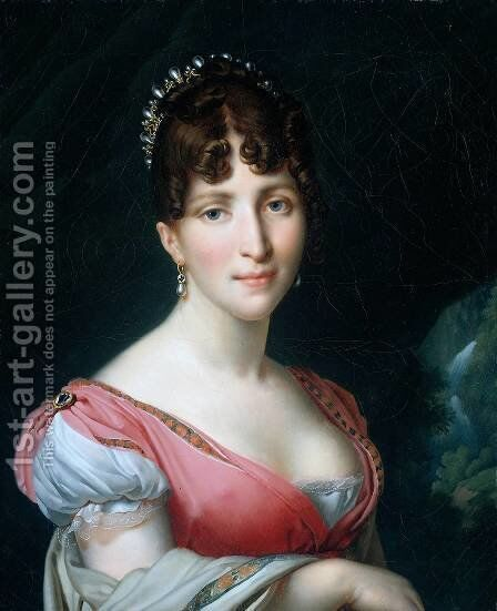 Hortense de Beauharnais by Anne-Louis Girodet de Roucy-Triosson - Reproduction Oil Painting