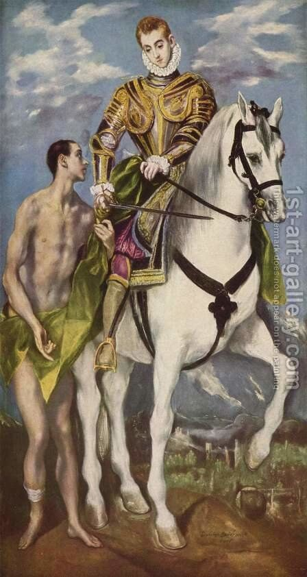 St. Martin and the Beggar by El Greco - Reproduction Oil Painting