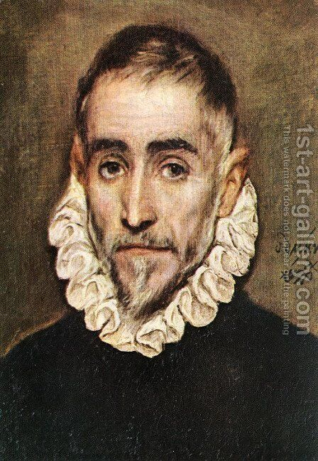 Portrait of an Elder Nobleman by El Greco - Reproduction Oil Painting