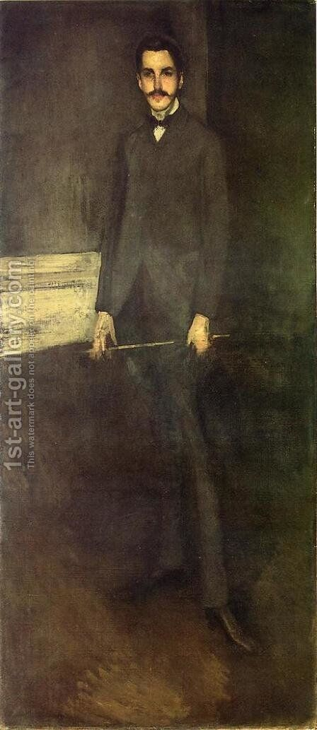Portrait of George W. Vanderbilt by James Abbott McNeill Whistler - Reproduction Oil Painting