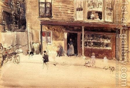 The Shop - An Exterior by James Abbott McNeill Whistler - Reproduction Oil Painting