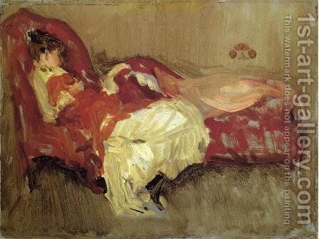 Note in Red: The Siesta by James Abbott McNeill Whistler - Reproduction Oil Painting