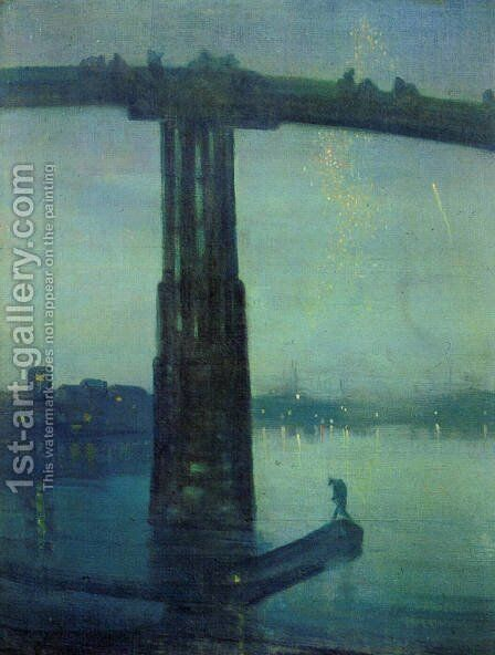 Nocturne in blue and green by James Abbott McNeill Whistler - Reproduction Oil Painting