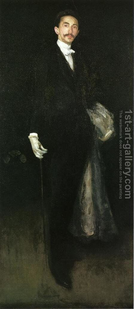 Arrangement in Black and Gold: Comte Robert de Montesquiou-Fezensac by James Abbott McNeill Whistler - Reproduction Oil Painting