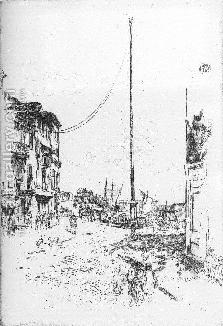 The Little Mast by James Abbott McNeill Whistler - Reproduction Oil Painting