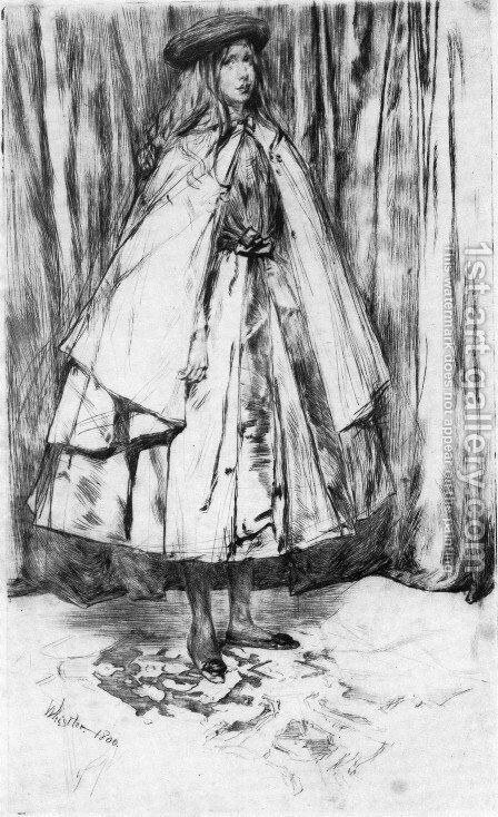 Annie Haden by James Abbott McNeill Whistler - Reproduction Oil Painting