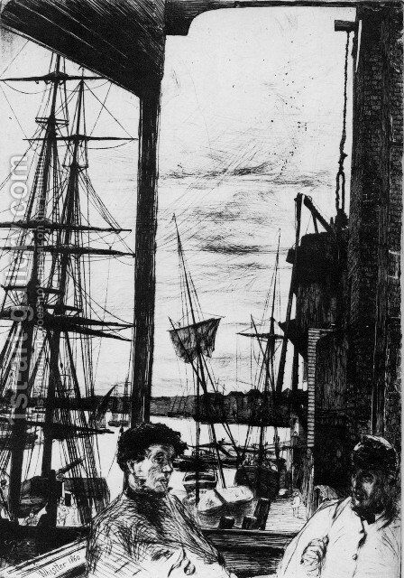 Rotherhithe by James Abbott McNeill Whistler - Reproduction Oil Painting