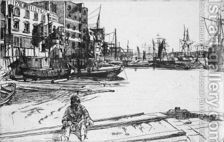 Eagle Wharf by James Abbott McNeill Whistler - Reproduction Oil Painting