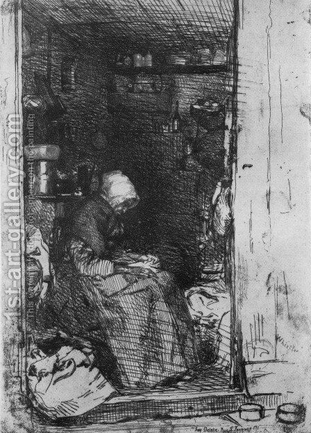 La Vielle aux loques (Old Woman with Rags) by James Abbott McNeill Whistler - Reproduction Oil Painting